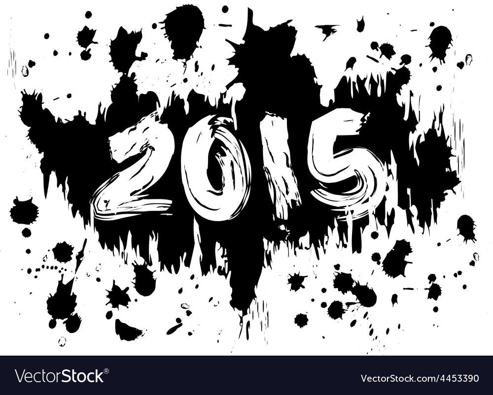 2015 ink splatters vector | Price: 1 Credit (USD $1)