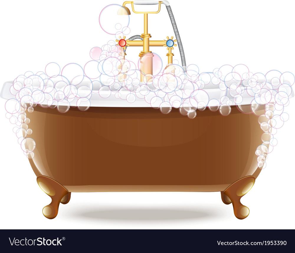 Bathtub with foam vector   Price: 1 Credit (USD $1)