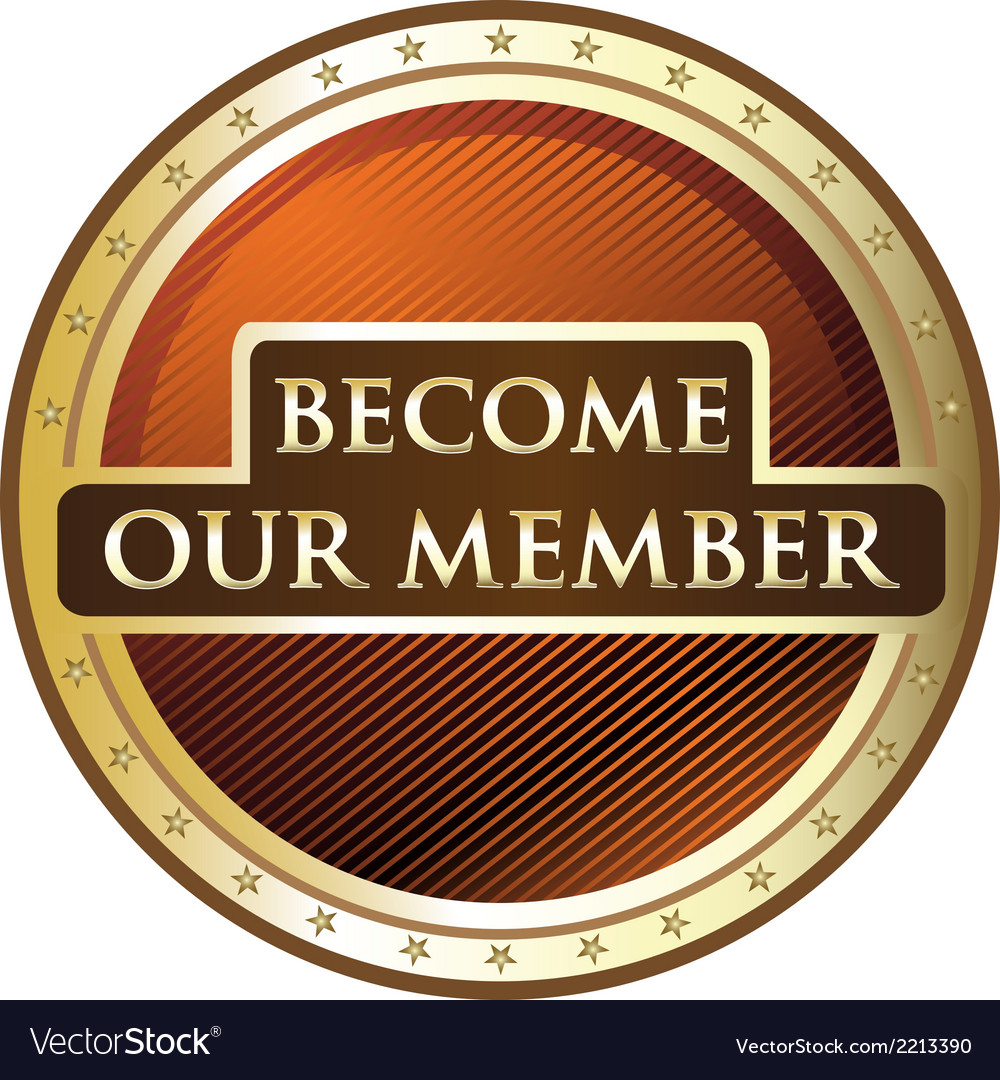 Become our member vector | Price: 1 Credit (USD $1)