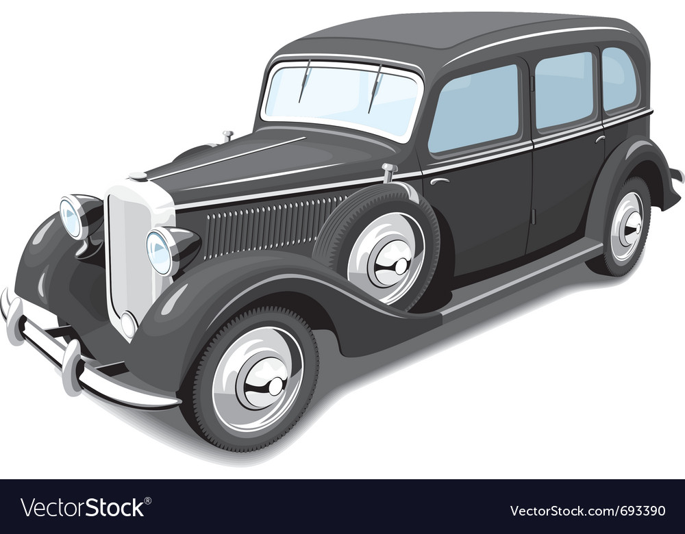 Black retro car vector | Price: 3 Credit (USD $3)