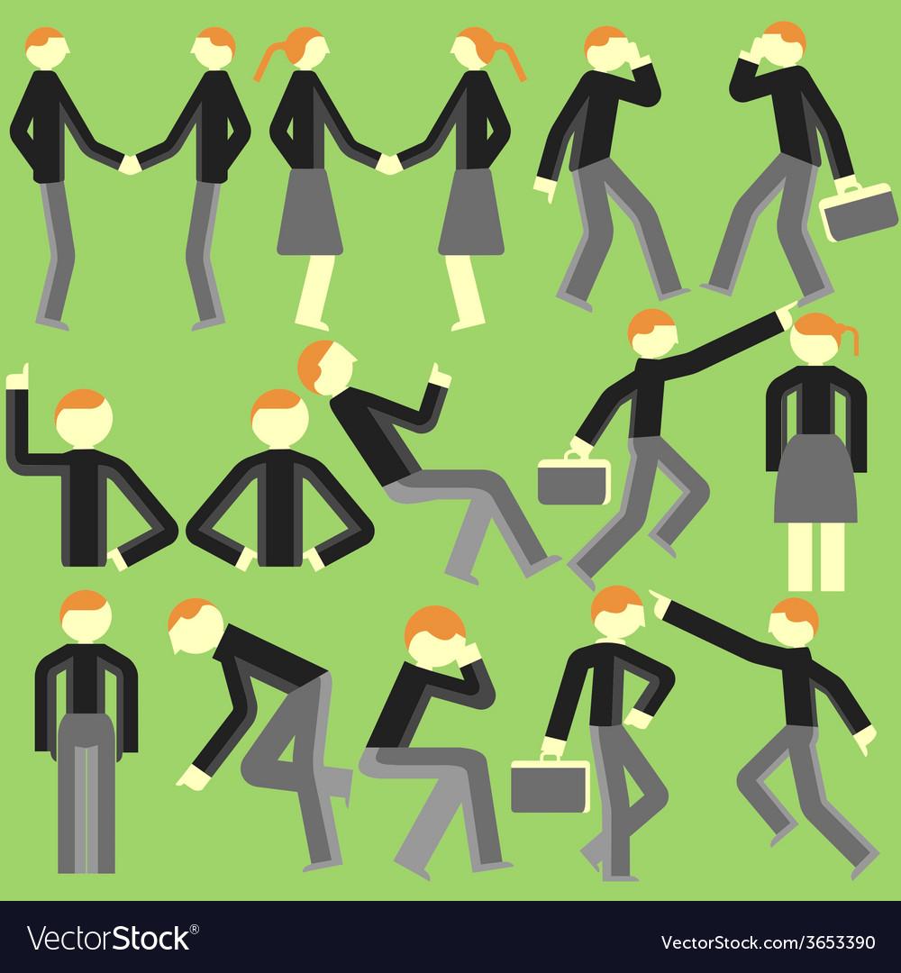 Cartoon bodily movement vector | Price: 1 Credit (USD $1)