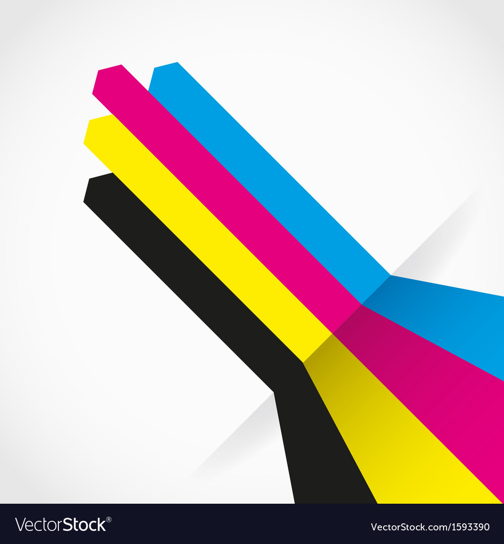 Cmyk arrow lines vector | Price: 1 Credit (USD $1)