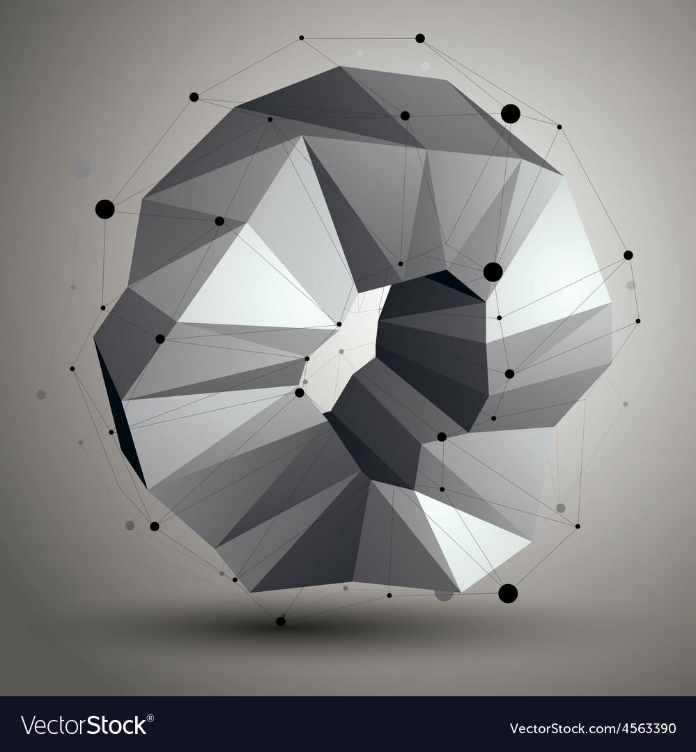 Geometric abstract 3d complicated lattice object vector | Price: 1 Credit (USD $1)