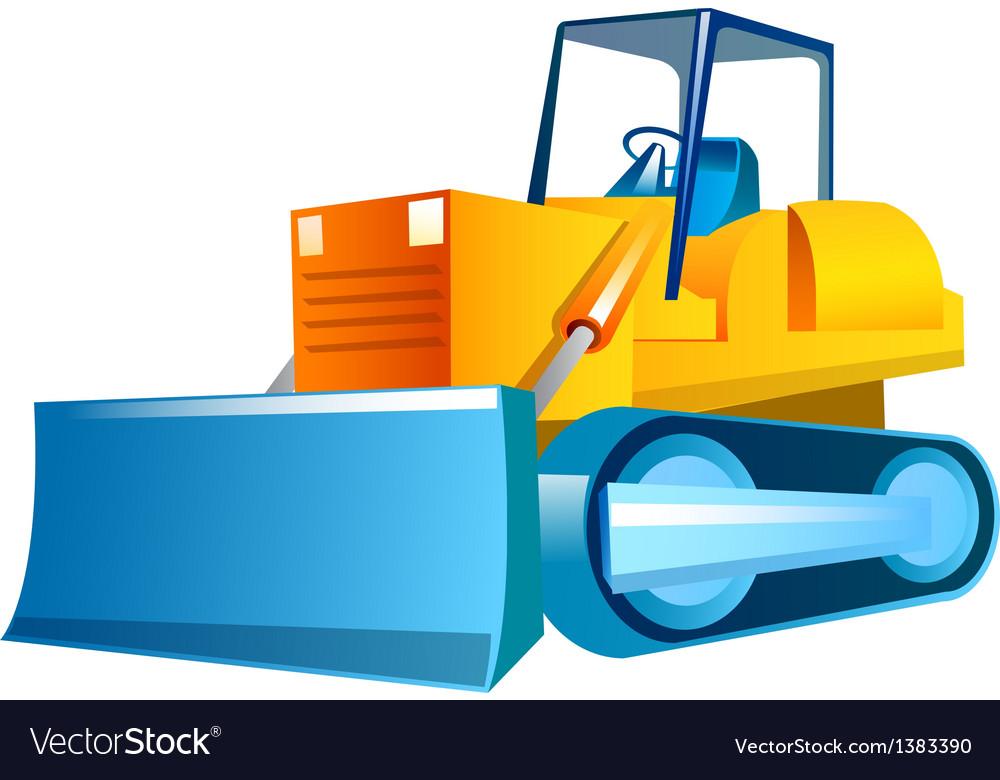 Icon bulldozer vector | Price: 1 Credit (USD $1)