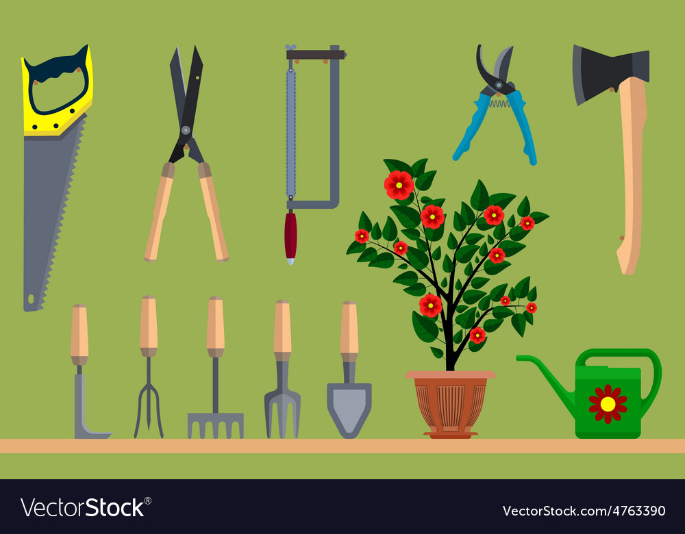 Instrument for gardening vector | Price: 1 Credit (USD $1)