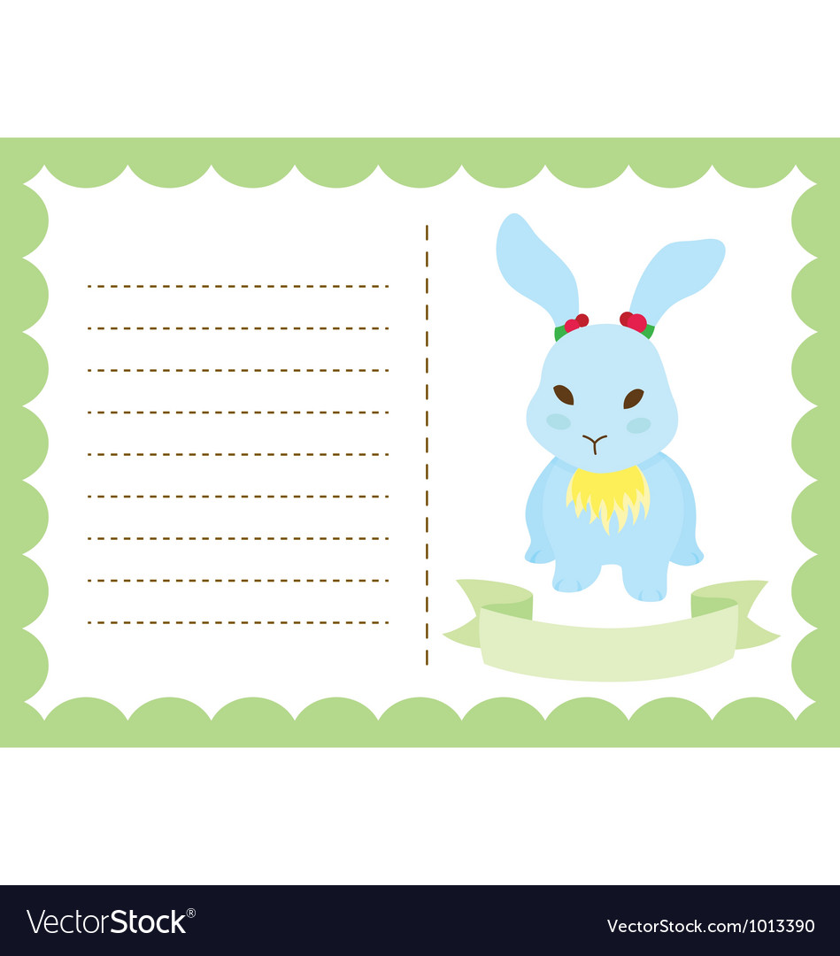 Little bunny new born vector | Price: 1 Credit (USD $1)