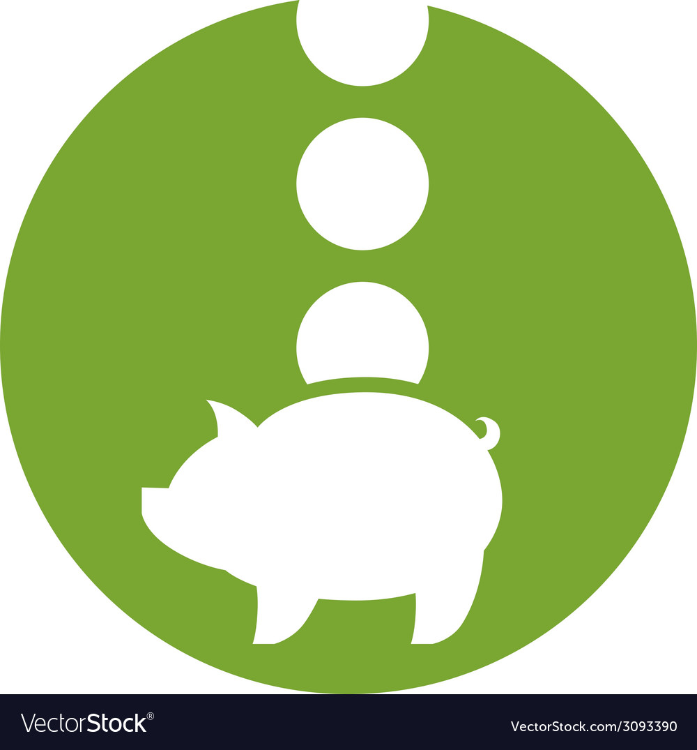 Piggy bank money icon vector | Price: 1 Credit (USD $1)
