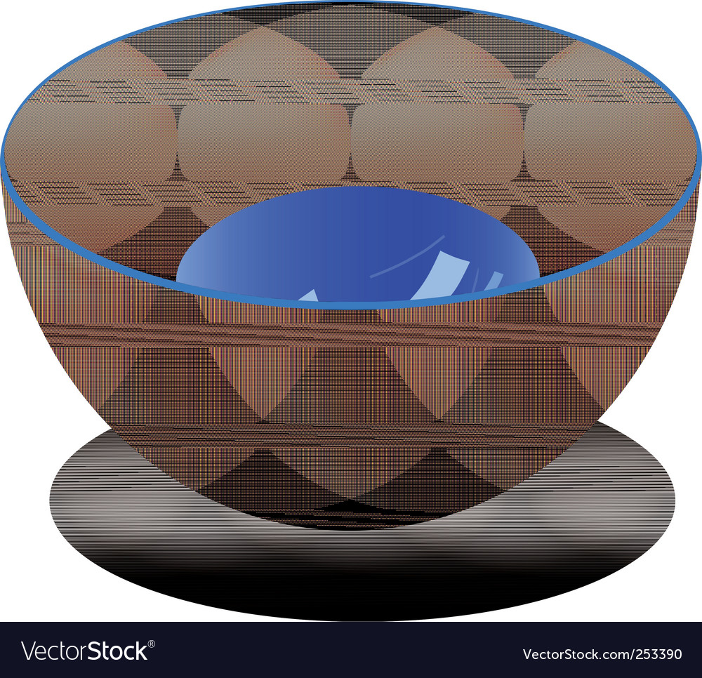 Plastic bowl vector | Price: 1 Credit (USD $1)