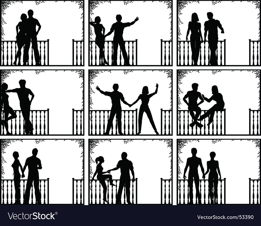 Porch people vector | Price: 1 Credit (USD $1)