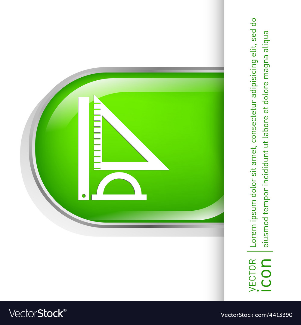 Ruler protractor triangle symbol of geometry and vector | Price: 1 Credit (USD $1)