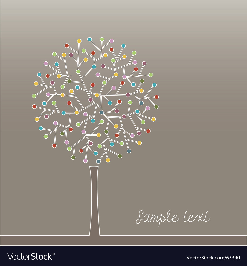 Tree illustration vector | Price: 1 Credit (USD $1)