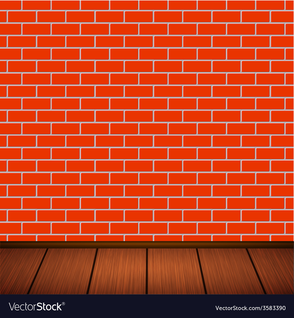 Wall with wooden floor vector | Price: 1 Credit (USD $1)