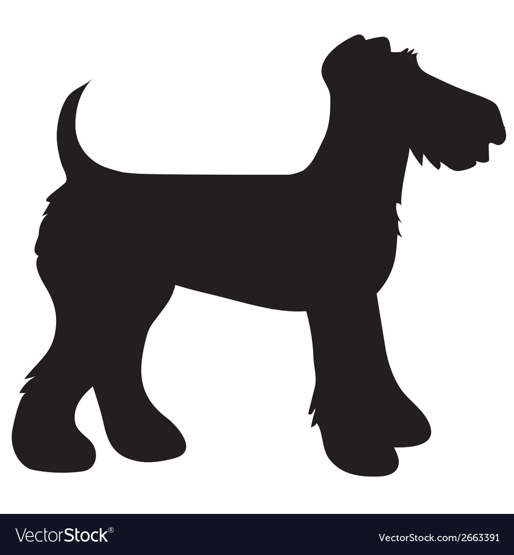 Airedale terrier silhouette vector | Price: 1 Credit (USD $1)