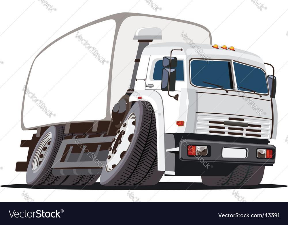 Cargo truck vector | Price: 1 Credit (USD $1)