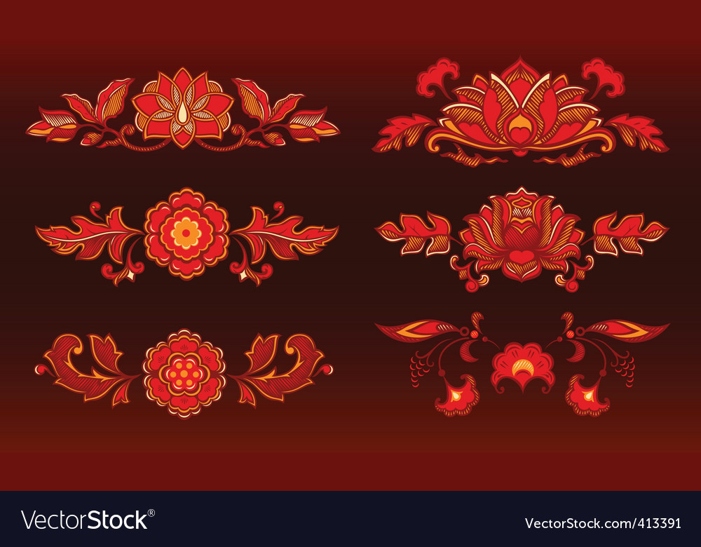 Decorative flowers vector   Price: 1 Credit (USD $1)