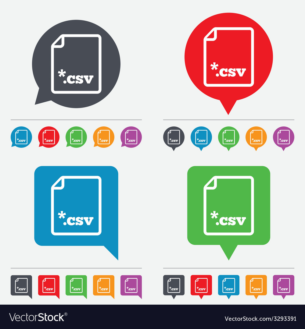 File document icon download csv button vector | Price: 1 Credit (USD $1)
