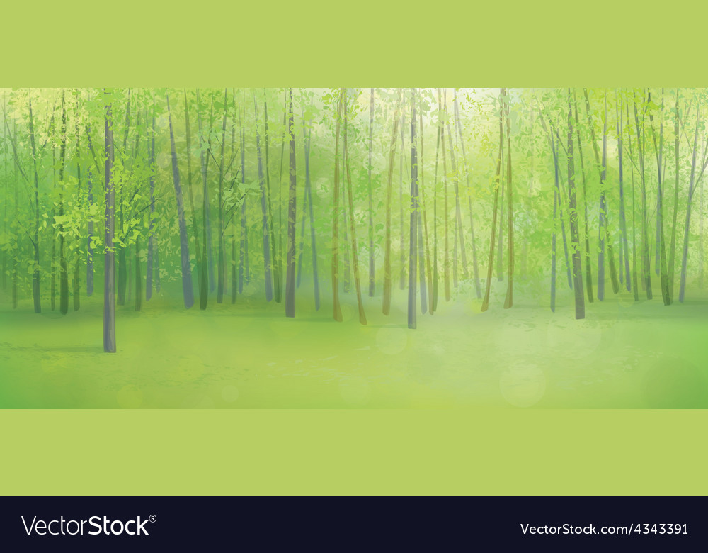 Green forest vector | Price: 1 Credit (USD $1)