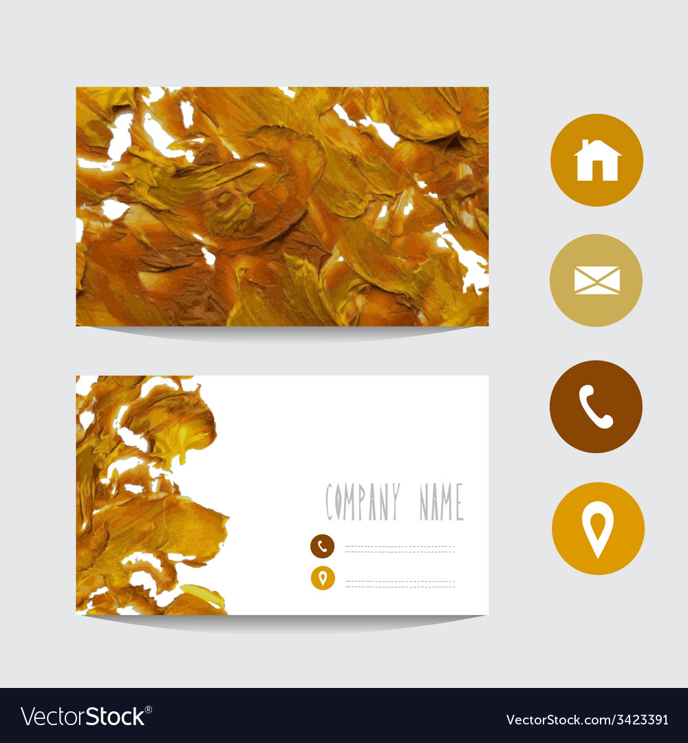 Oil painted business card vector   Price: 1 Credit (USD $1)