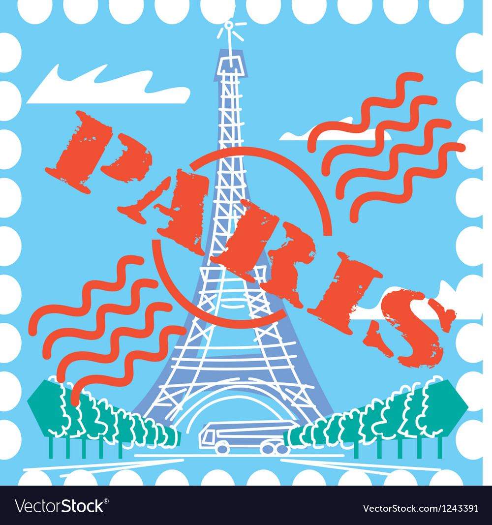 Paris drawing vector | Price: 1 Credit (USD $1)