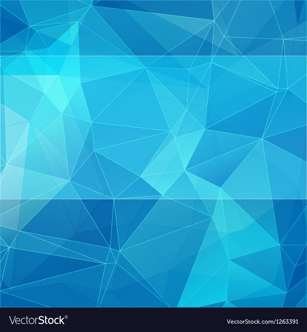 Triangular style blue abstract background vector | Price: 1 Credit (USD $1)