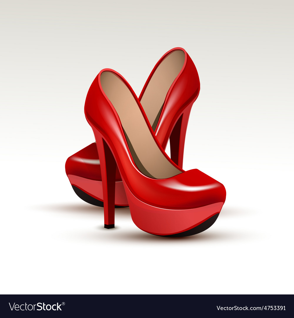 Woman fashion shoes on high heels vector | Price: 3 Credit (USD $3)