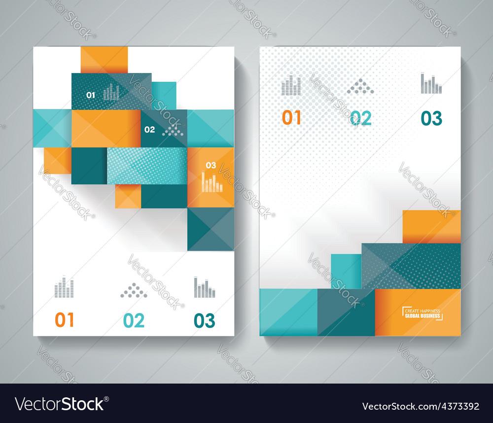 Bbrochure template design with 3d elements vector