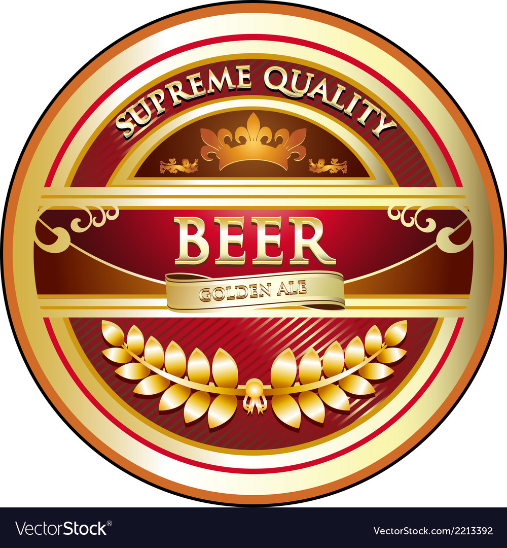 Beer label vintage design vector | Price: 1 Credit (USD $1)