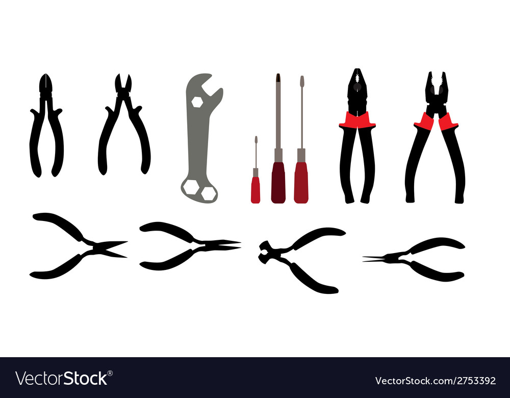 Building tools hammer screwdriver tape measure vector | Price: 1 Credit (USD $1)
