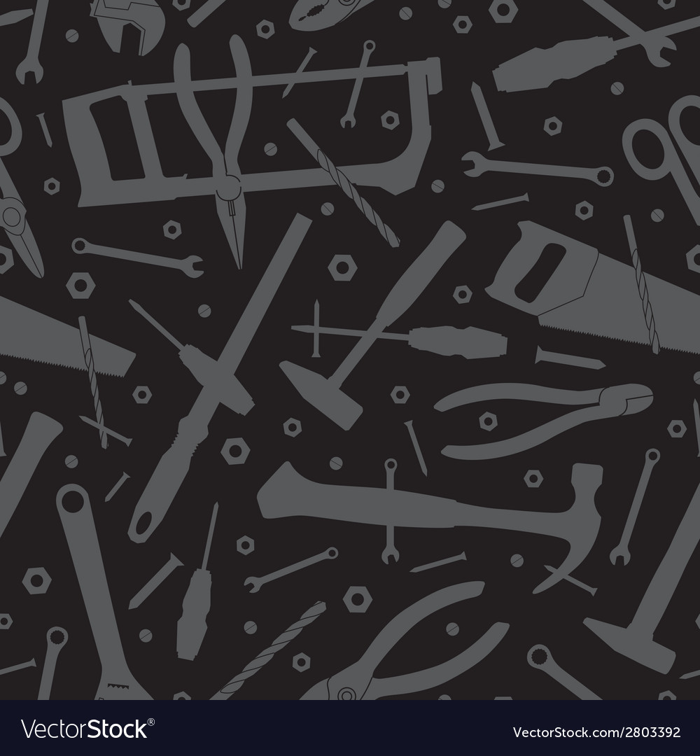 Construction tools seamless background template vector | Price: 1 Credit (USD $1)