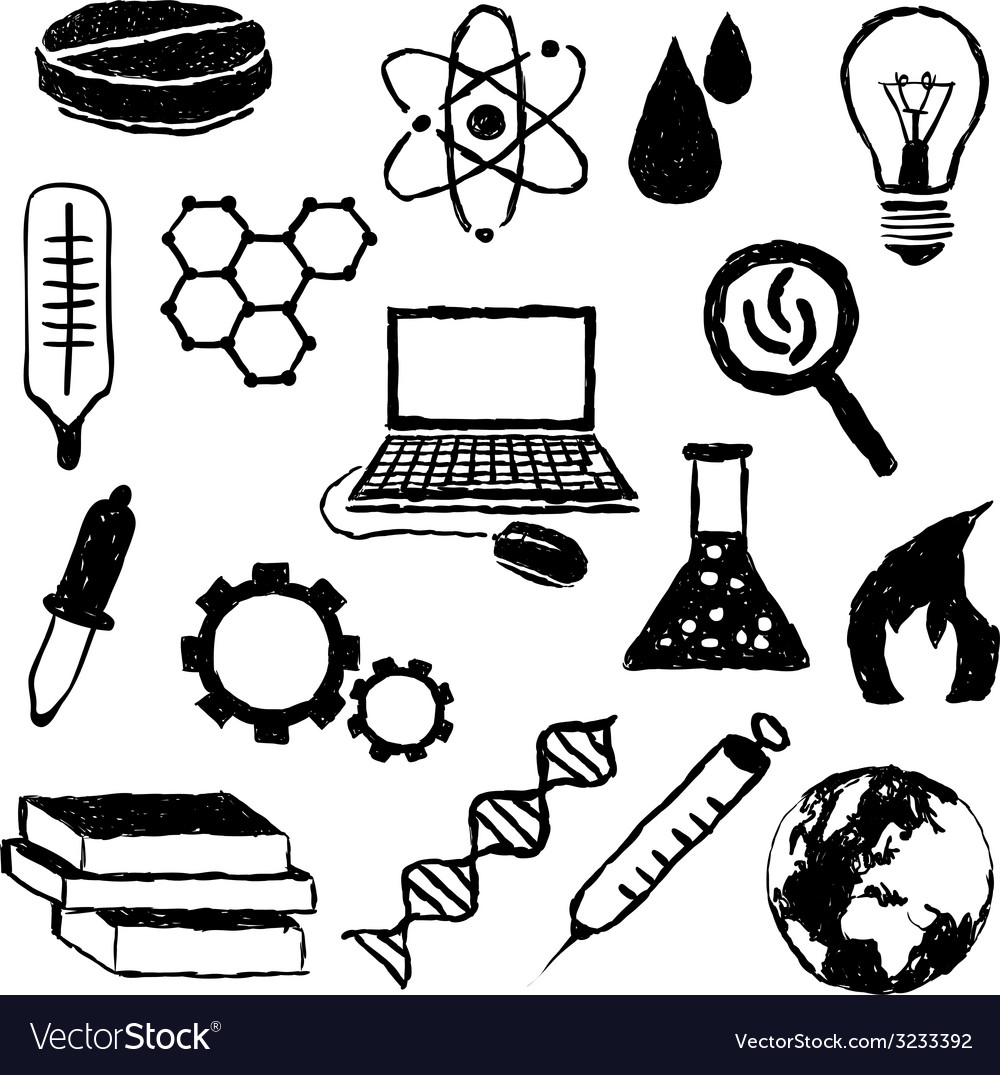 Doodle science images vector | Price: 1 Credit (USD $1)