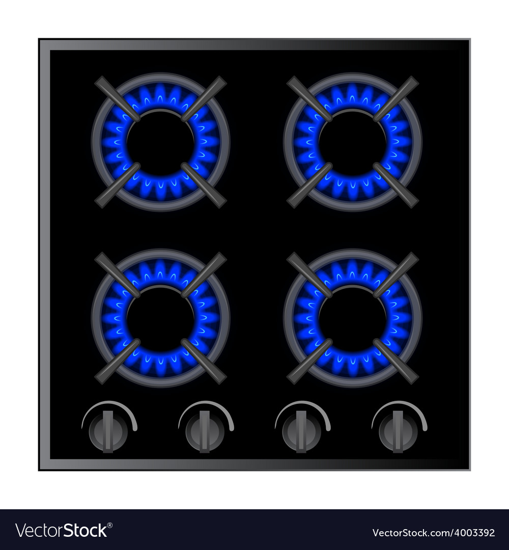 Gas stove burner over dark vector | Price: 1 Credit (USD $1)