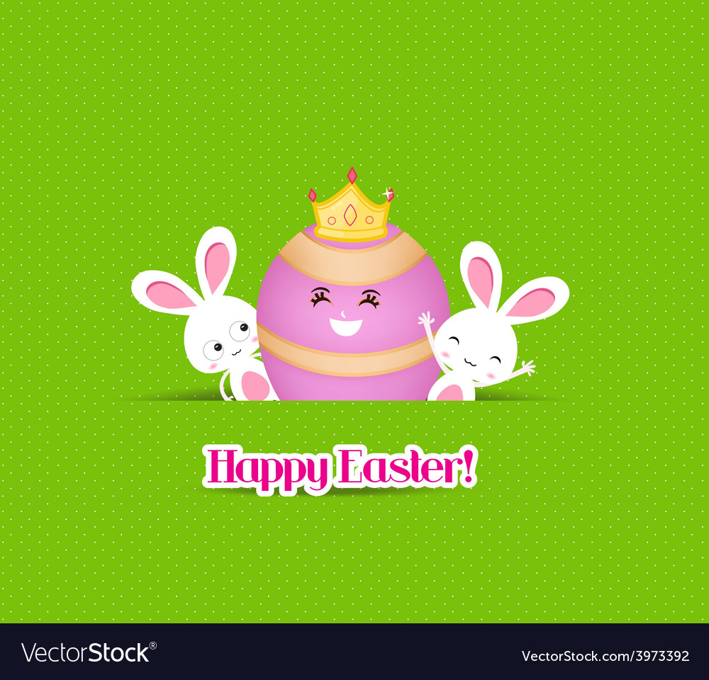 Happy easter eggs and bunny vector | Price: 1 Credit (USD $1)