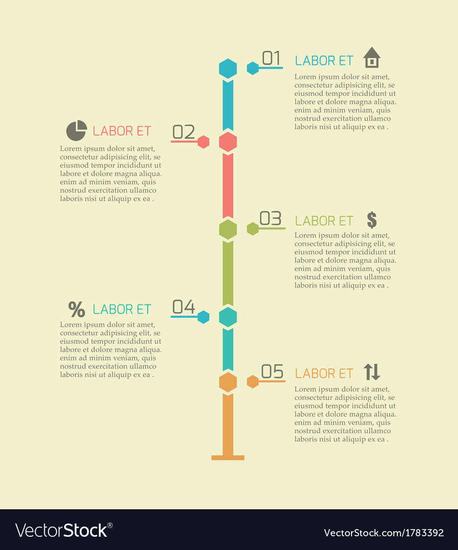 Infographic timeline chart elements vector | Price: 1 Credit (USD $1)