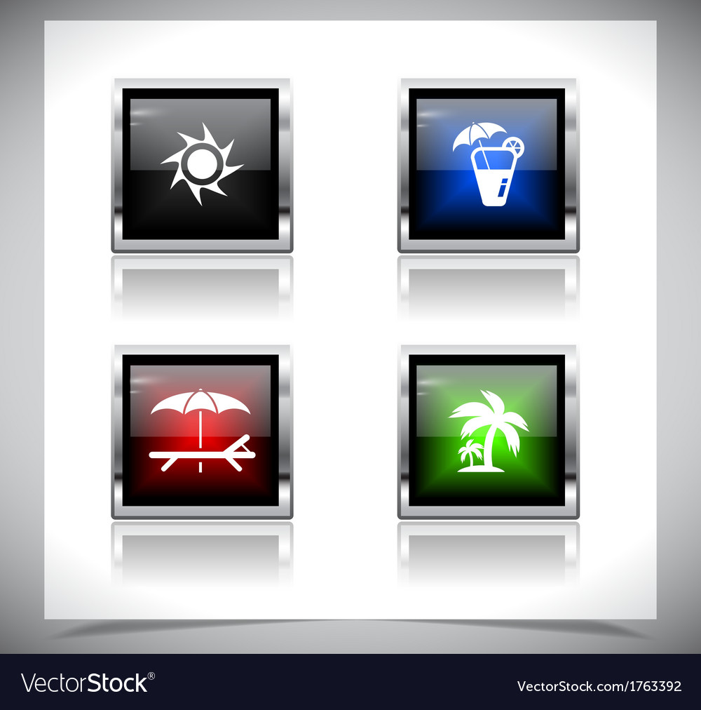Metal web buttons eps10 vector | Price: 1 Credit (USD $1)