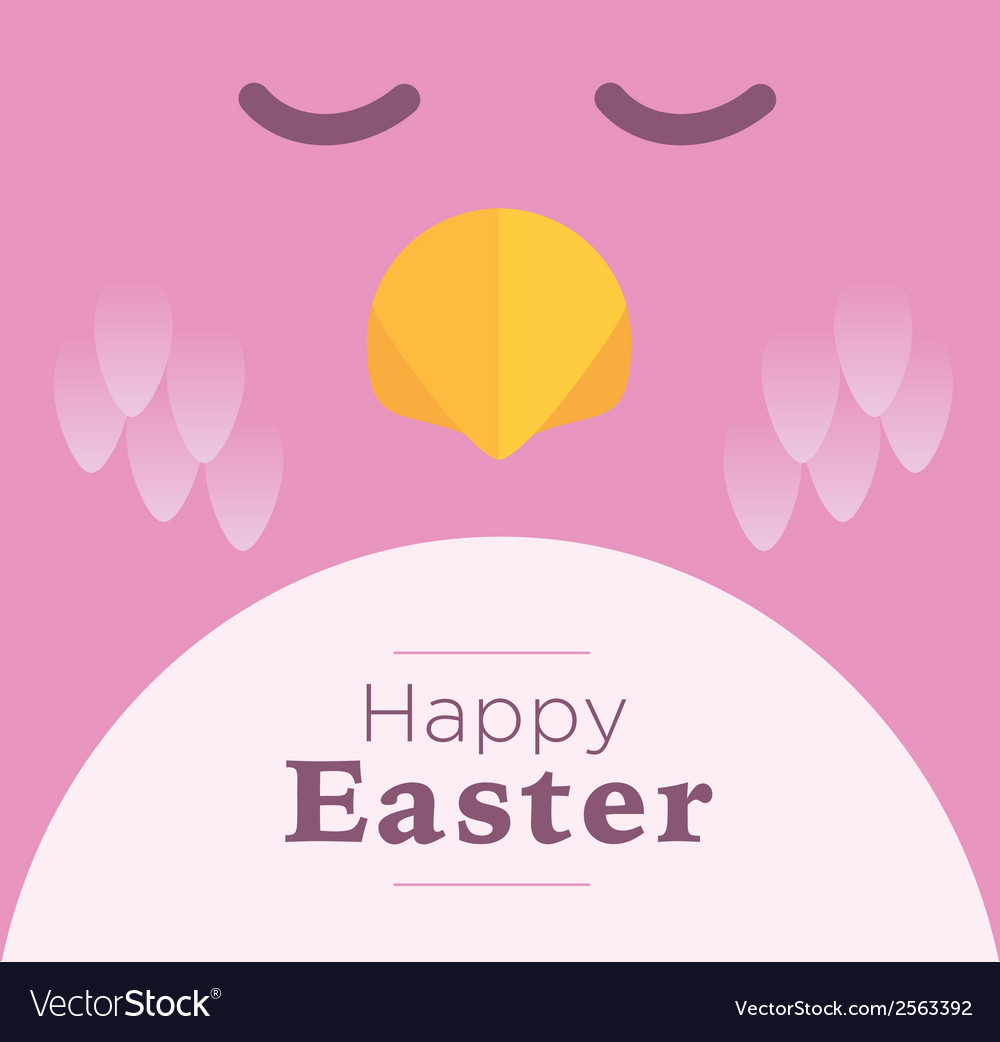 Pink easter chick vector | Price: 1 Credit (USD $1)