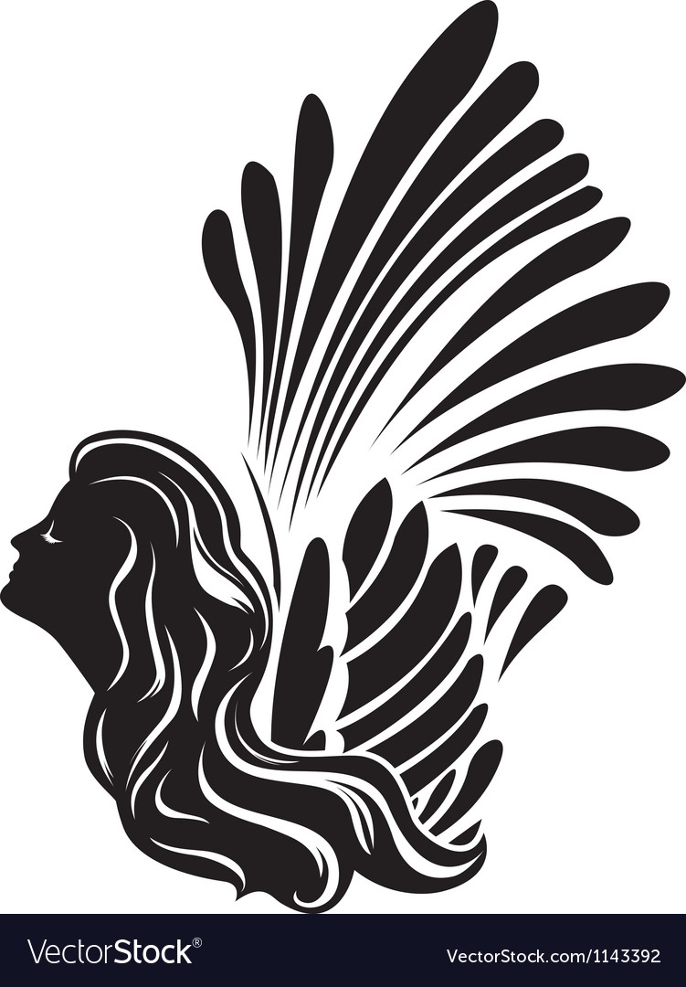Winged muse symbol vector | Price: 3 Credit (USD $3)
