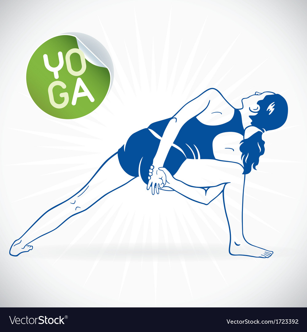 Yoga fitness model vector | Price: 1 Credit (USD $1)