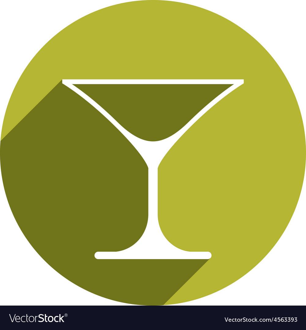 Alcohol beverage theme icon classic martini glass vector | Price: 1 Credit (USD $1)