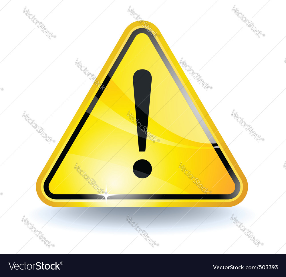 Attention sign vector | Price: 1 Credit (USD $1)