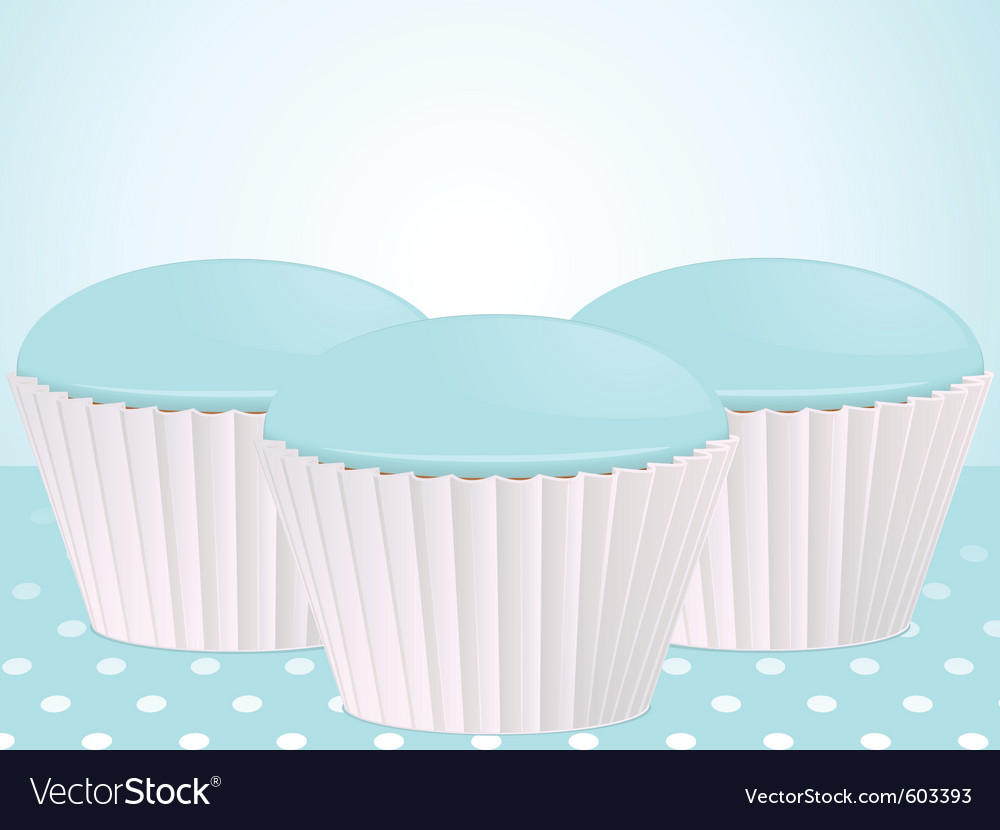 Blue cupcakes vector | Price: 1 Credit (USD $1)