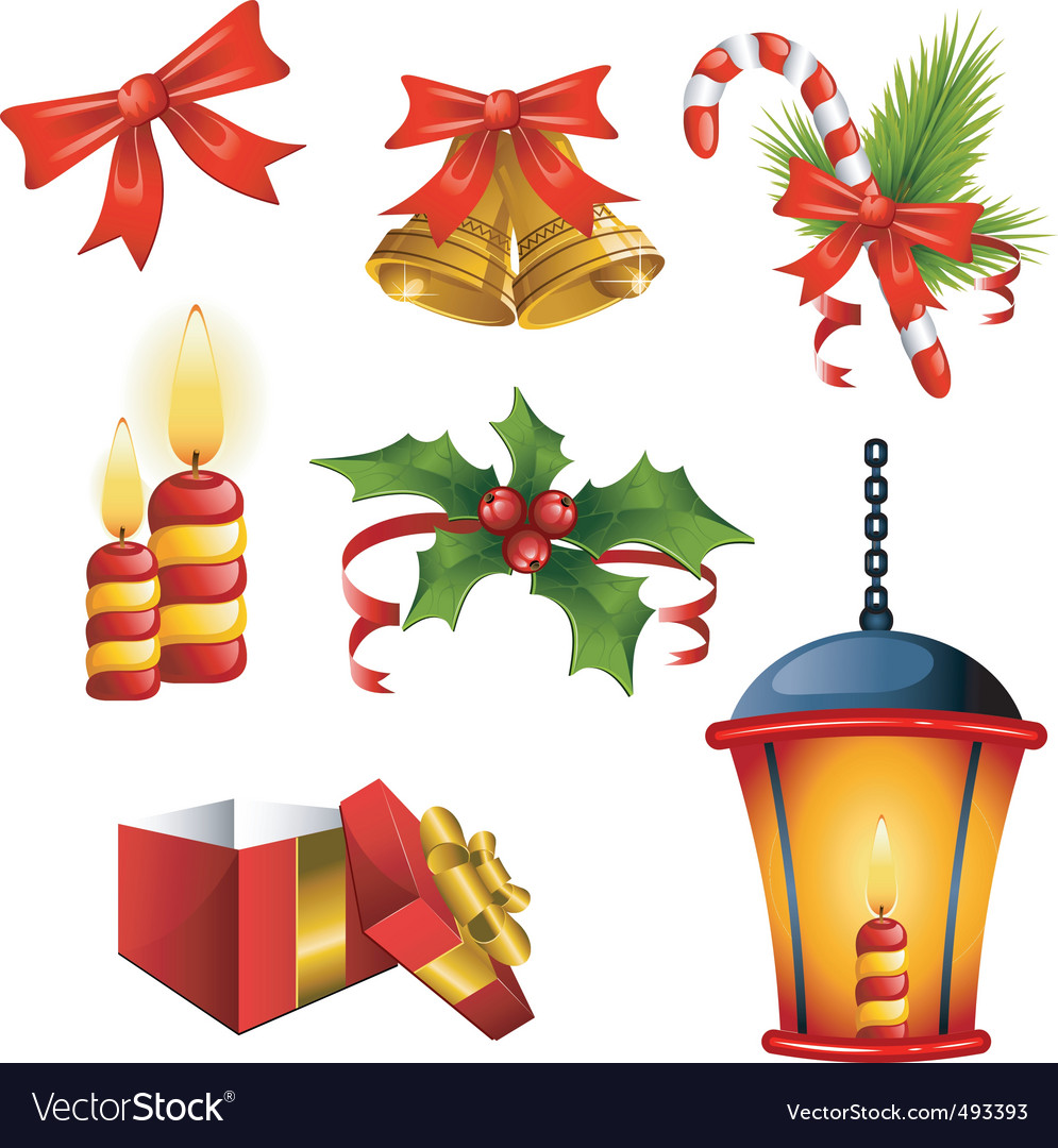 Christmas decorative elements vector | Price: 1 Credit (USD $1)