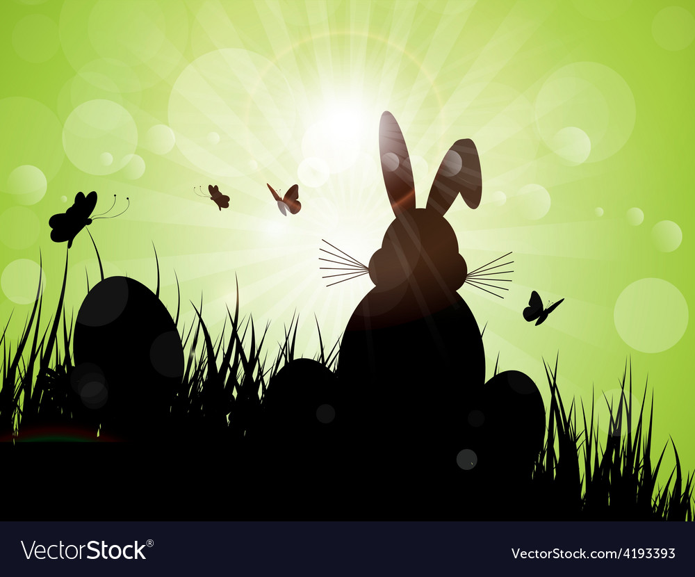 Easter bunny silhouette 1103 vector | Price: 1 Credit (USD $1)