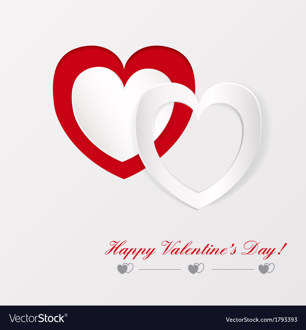 Greeting card on valentines day vector | Price: 1 Credit (USD $1)