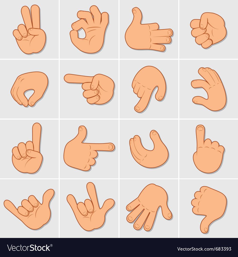 Hand signals vector | Price: 1 Credit (USD $1)