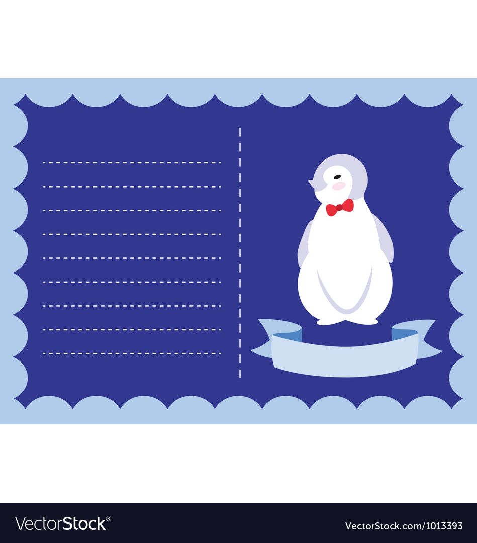 Little penguin new born vector | Price: 1 Credit (USD $1)