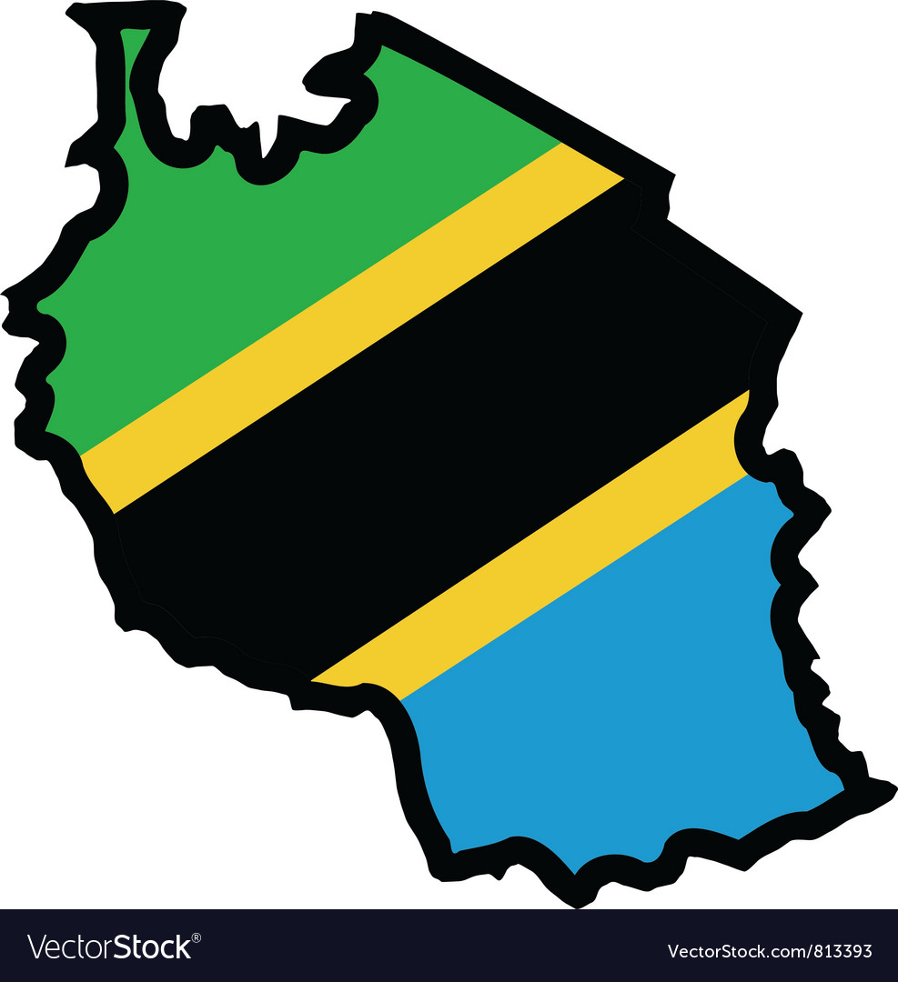 Map in colors of tanzania vector | Price: 1 Credit (USD $1)