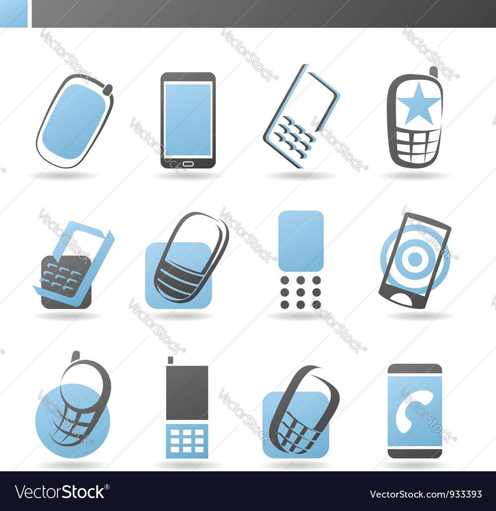 Mobile phones - logo template set vector | Price: 1 Credit (USD $1)