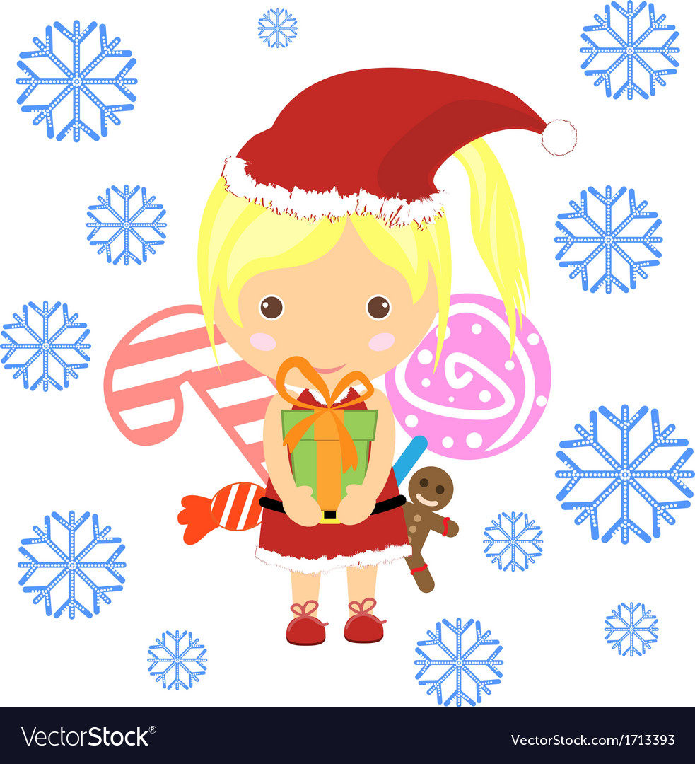 Retro style christmas card with santa claus - temp vector | Price: 1 Credit (USD $1)