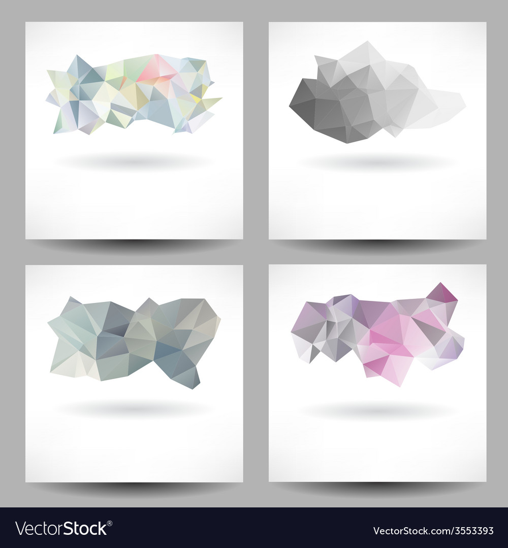 Set of backgrounds with abstract triangles vector | Price: 1 Credit (USD $1)