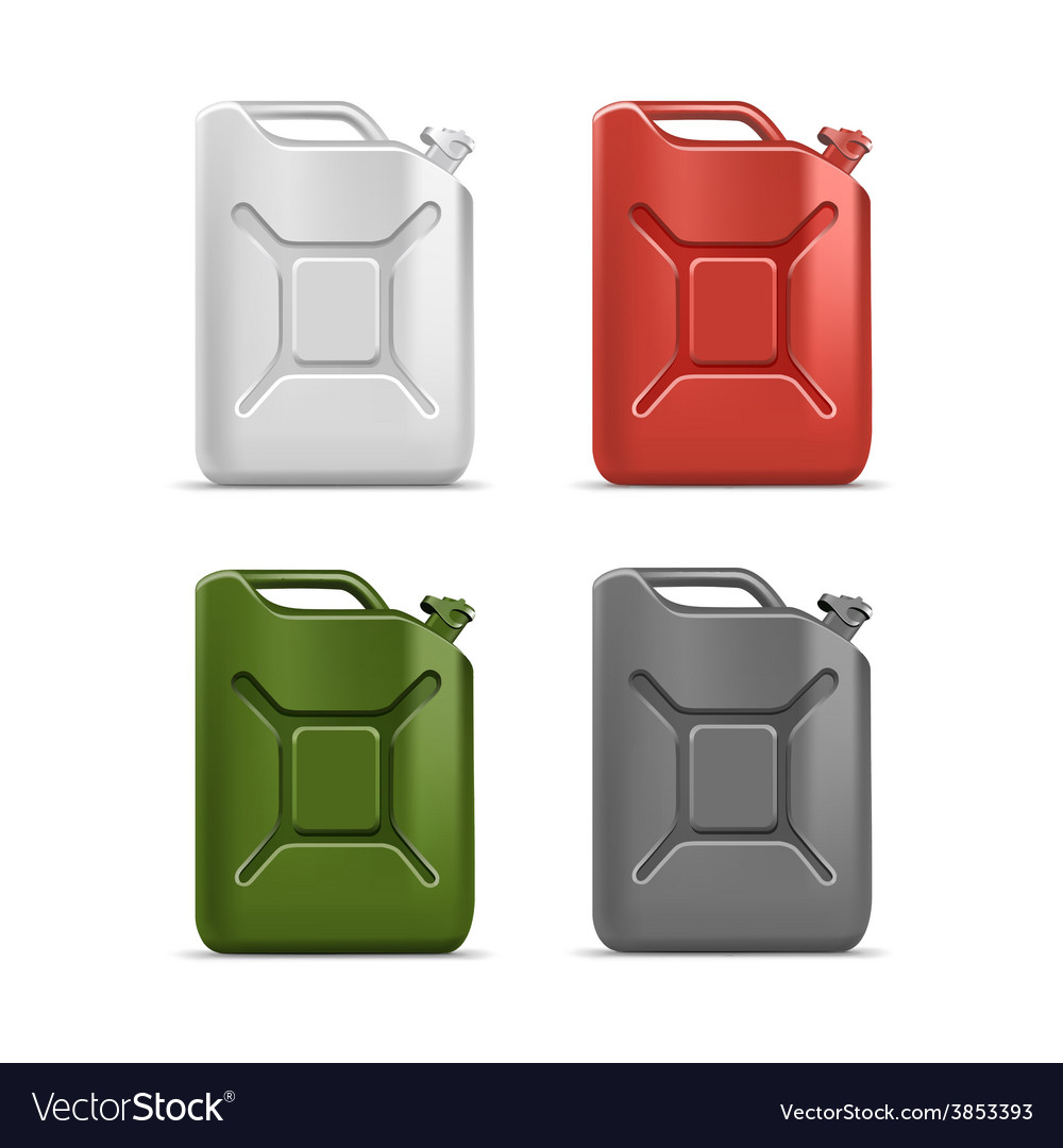 Set of blank jerrycan canister gallon oil vector | Price: 3 Credit (USD $3)